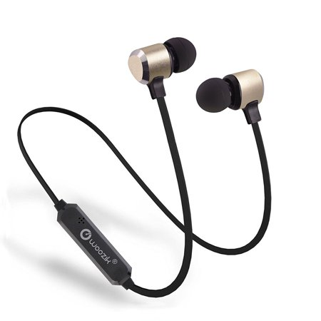 Woozik M600 Bluetooth Magnetic Stereo Lightweight Earbuds, with Noise Cancelling Mic and Volume Control, Great for Gym, Workout, and more -