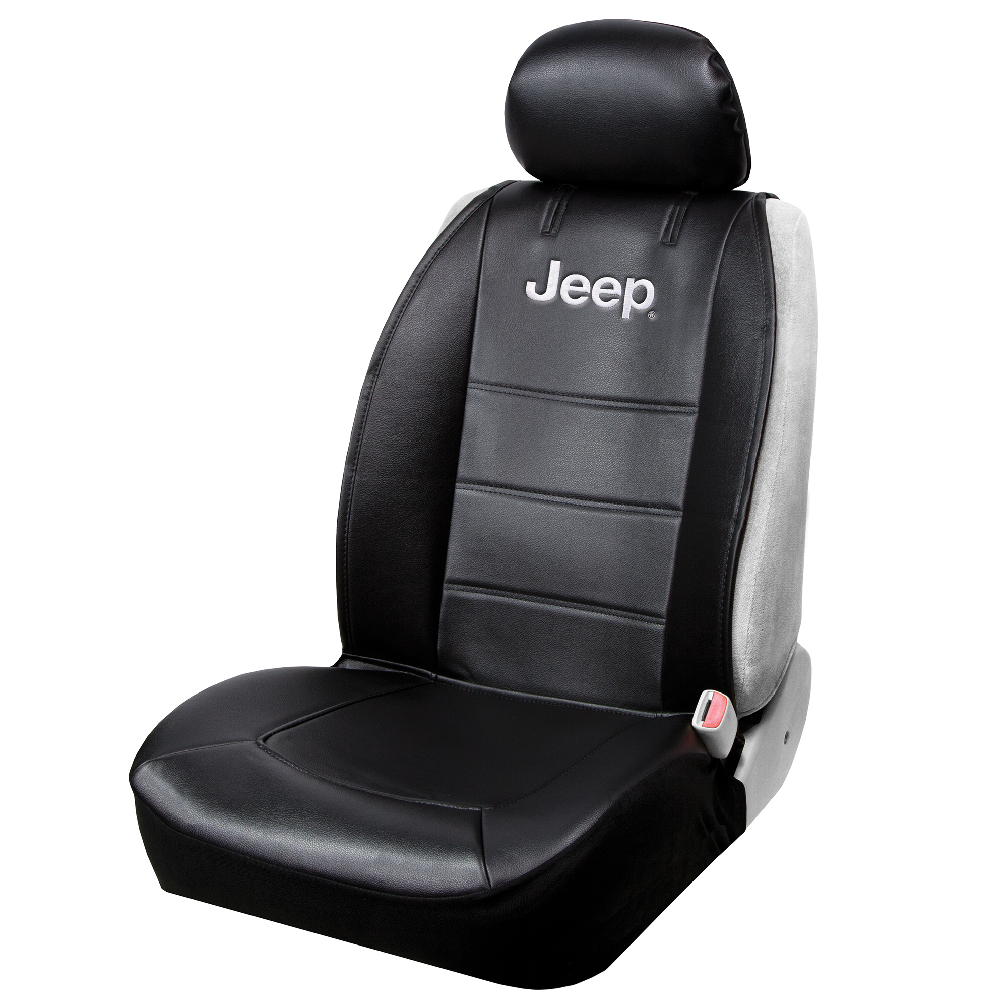 Plasticolor Jeep 3-Piece Black Sideless Seat Cover