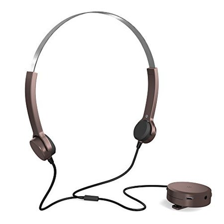 Docooler Bone Conduction Headsets Hearing Aids Headphones Audiphone Sound Pick-up AUX IN Brown for Hearing Difficulties