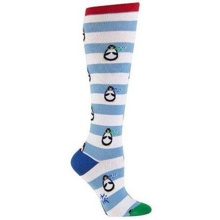 Penguin Stripe Women's Knee High Socks
