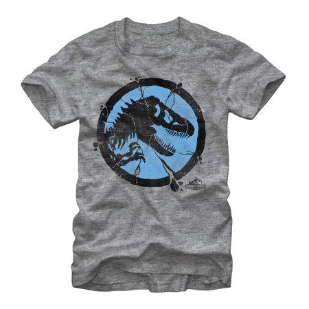 Jurassic World Men's Cracked T. Rex Logo T-Shirt
