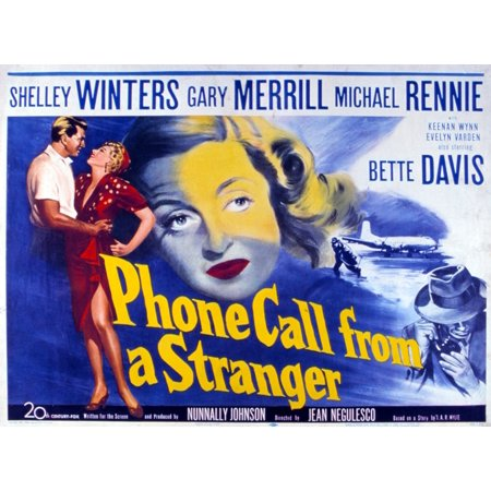 Phone Call From A Stranger Bette Davis 1952 Tm And Copyright 20Th Century Fox Film Corp All Rights Reserved Courtesy Everett Collection Movie Poster Masterprint