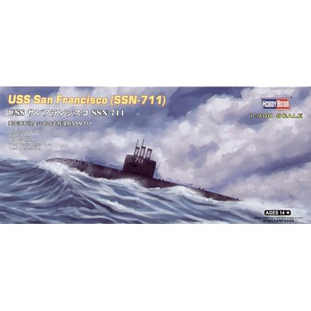 San Model Kit (HobbyBoss 87015 US Submarine San Francisco SSN-711 1/700 Scale Plastic Model)