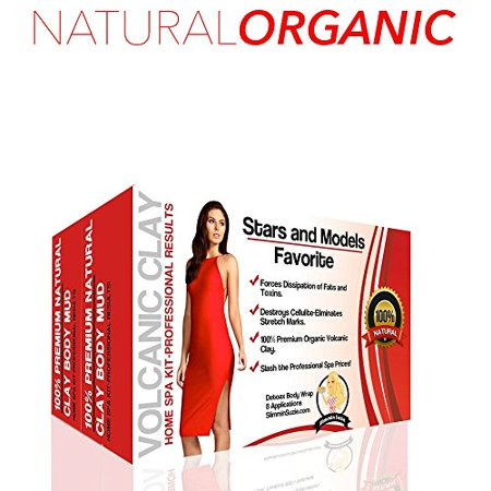 Natural and Organic Volcanic Ash Mud Body Slimming and Firming Ultimate Skin Care Detox Wraps