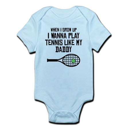My Dads A Geek Onesie (CafePress - Play Tennis Like My Daddy Body Suit - Baby Light)
