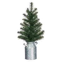 Sullivans Tabletop Pine Tree with Milk Can Base