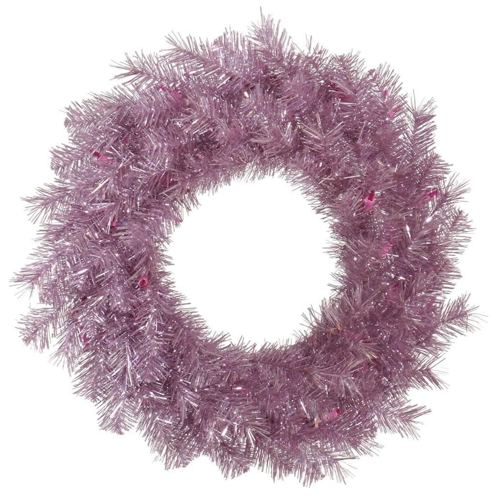 "Vickerman 32919 - 60"" Orchid Pink Tinsel Christmas Wreath (A147160)"