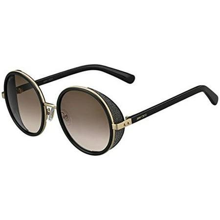 Jimmy Choo Andie/S 0J7Q Rose Gold / Shiny Black J6 brown gradient lens (Jimmy Choo Black Sunglasses)