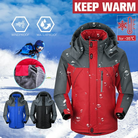 Men Women Outdoor Hoodie Winter Warm Waterproof Jacket Snow Coat Hiking Ski Sport Tops 4 Sizes