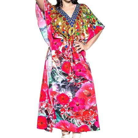 172ae8d2a014 HAPPY BAY - Womens Boho Beach 3D Ladies Summer Kaftan Casual Wear Maxi  Caftan For Womens Free Size - Walmart.com