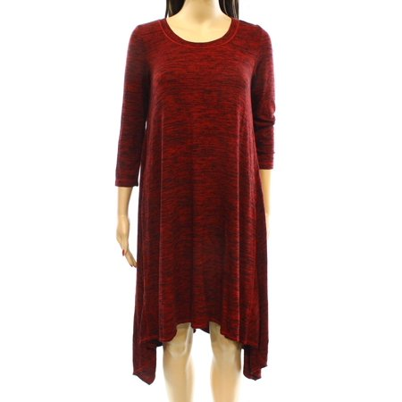 Max Studio NEW Red Black Womens Size XS Space-Dye Shift Dress