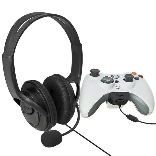 Insten 4-pack Black Big Gaming Headphone Headset with Mic For Microsoft Xbox 360 Live