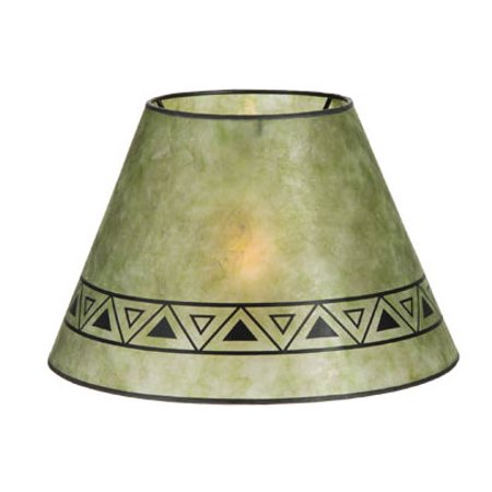 B&P Lamp® Craftsman Green, 6 * 12 * 7.5, Uno, 1In., Geometric Design, (5)