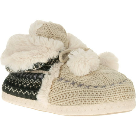 Knit Bootie (Women's Knit Short Bootie with Button Side)