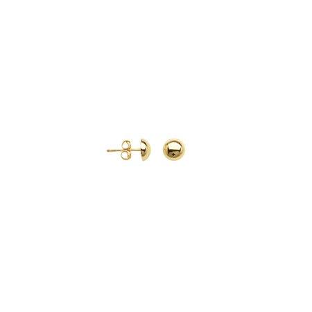 Half Ball Stud Earrings 10k Yellow Gold 7mm