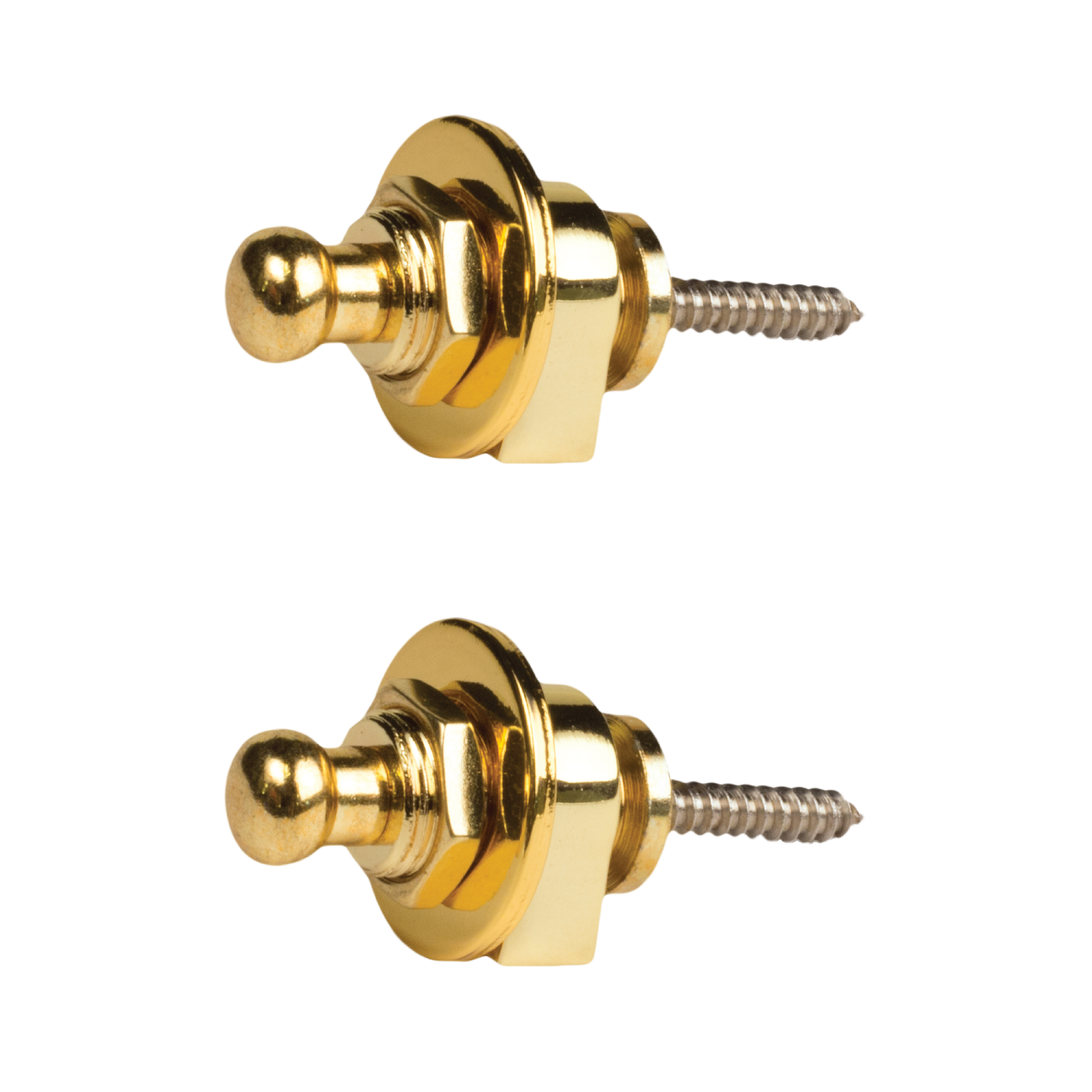 Seismic Audio 2 Pack of Gold Horseshoe Style Strap Locks for electric guitars Gold - SAGA56-2Pack