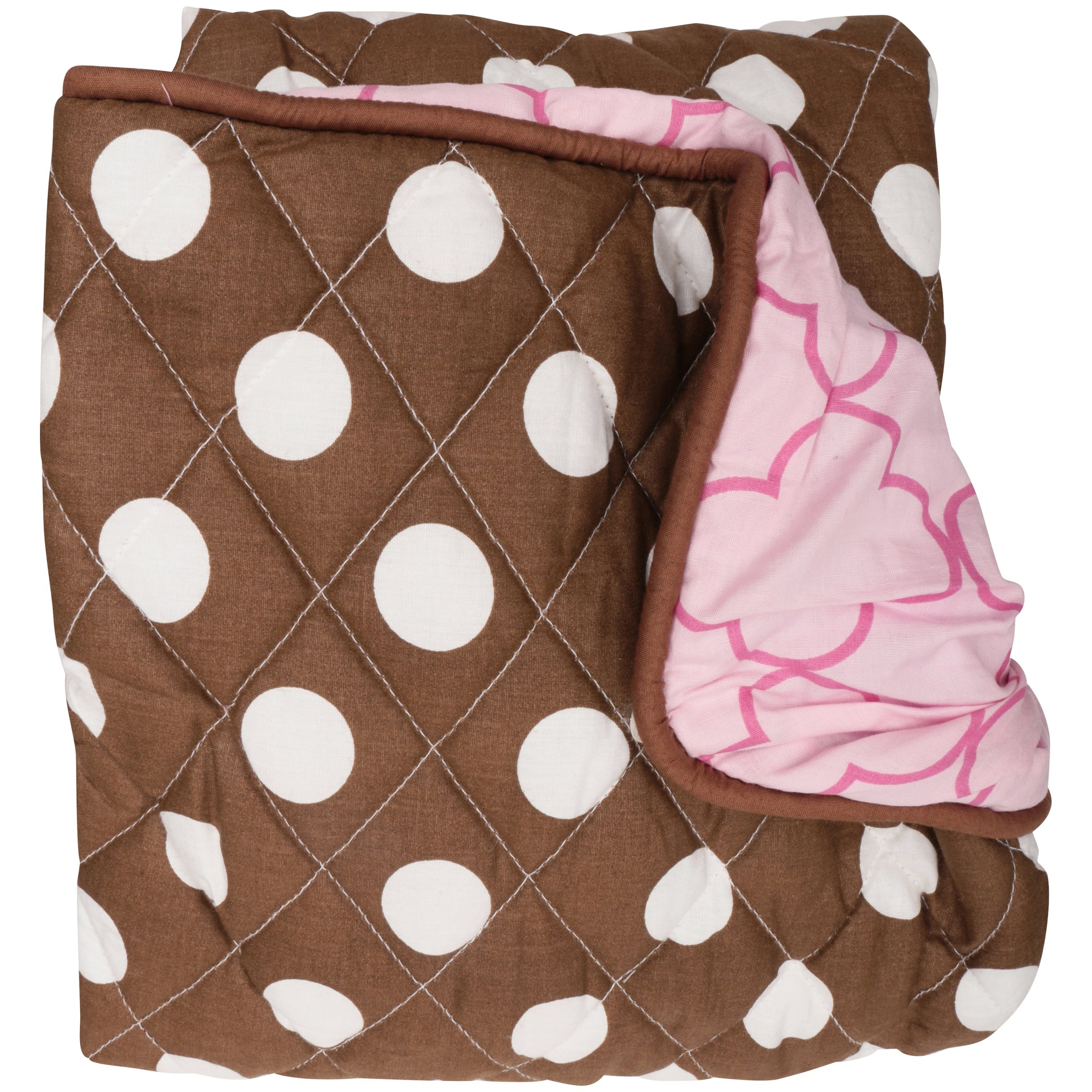 Bacati Butterflies Pink/Chocolate Changing Pad Cover