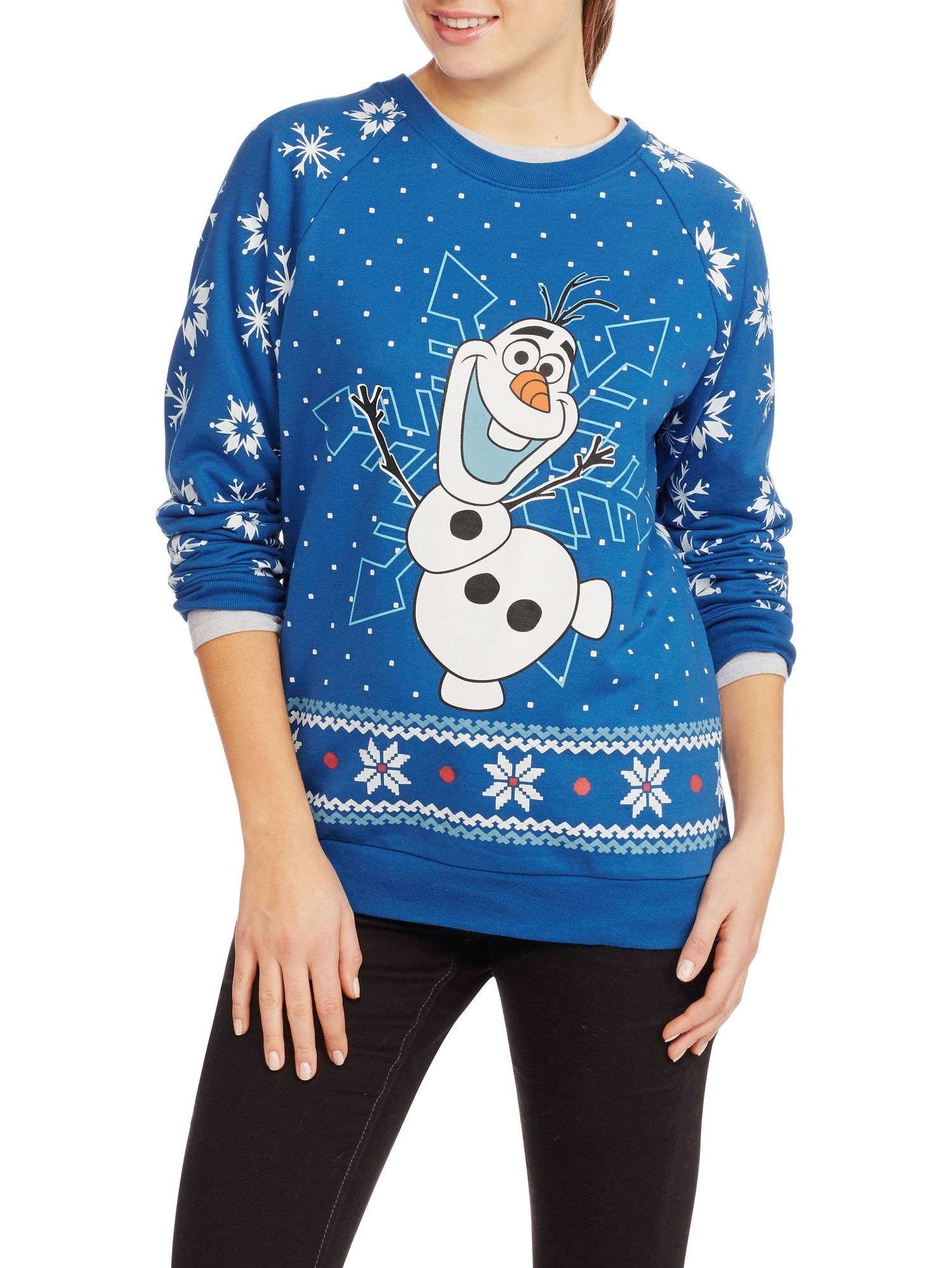 Olaf Juniors Ugly Christmas Pullover - Walmart.com