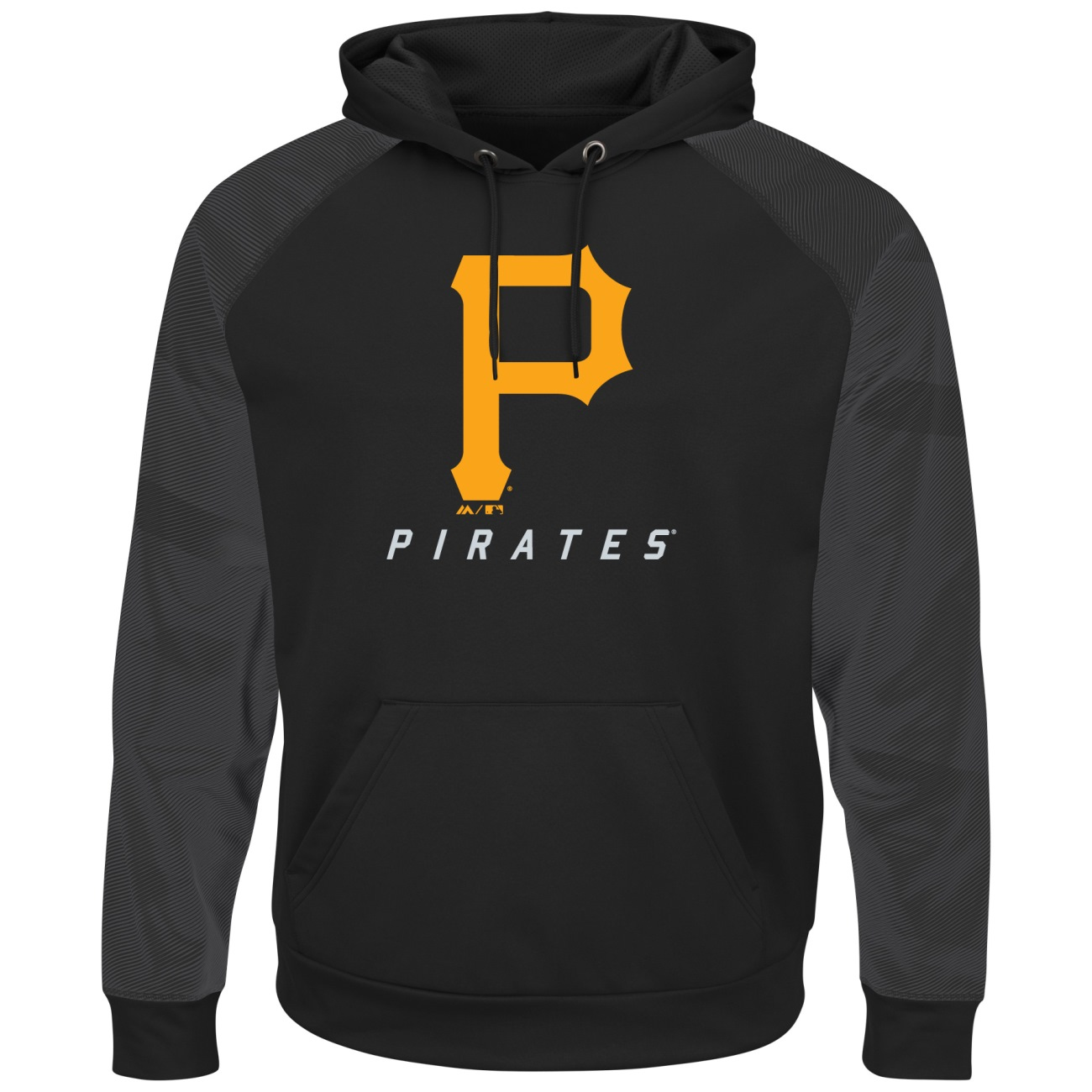 """Pittsburgh Pirates Majestic MLB """"Armor 2"""" Men's Pullover Hooded Sweatshirt by MAJESTIC LSG"""