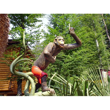 Safari Themed Giveaways (Laminated Poster Replica Safari Theme Park Sculpture Monkey Poster Print 11 x)