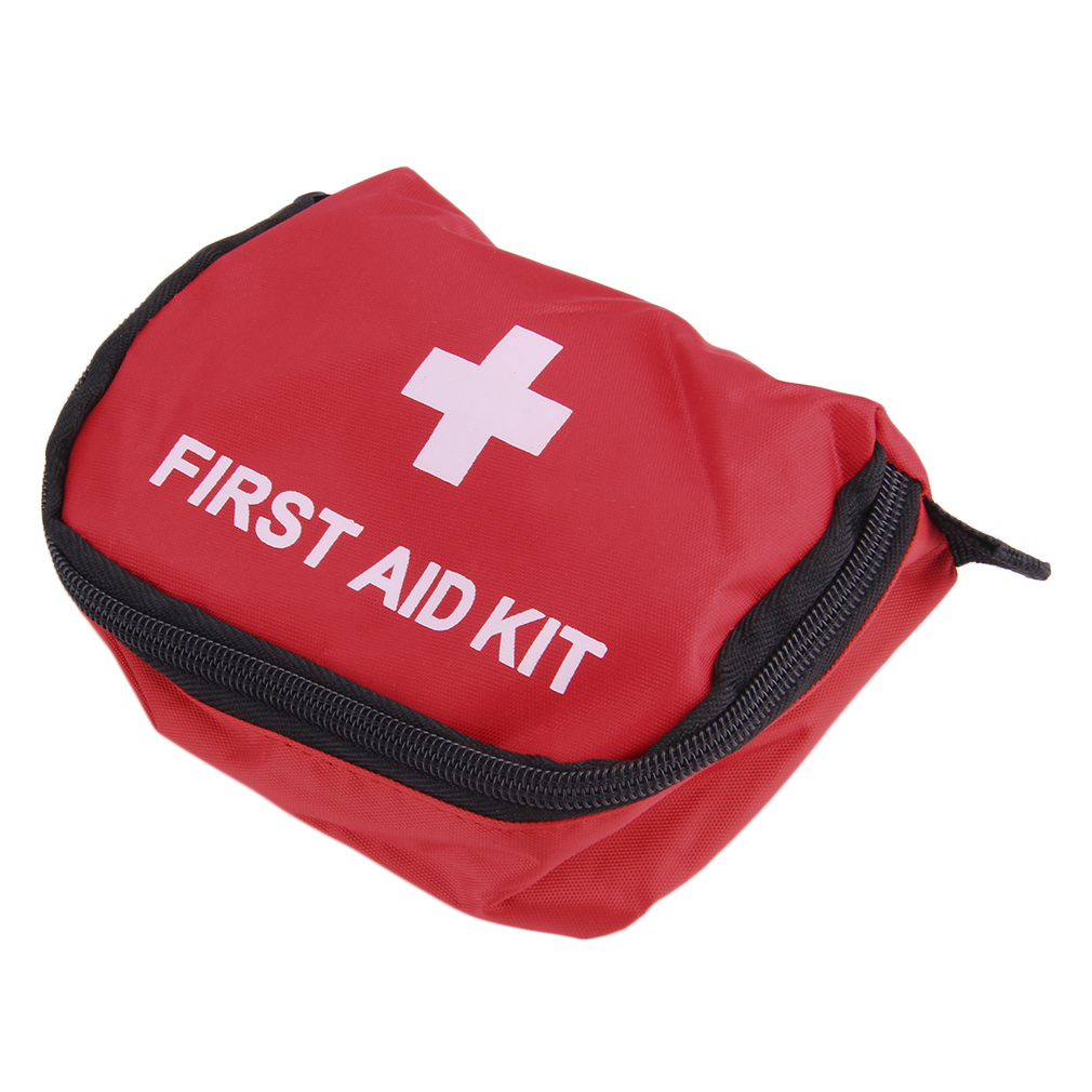 First Aid Kit 0.7L Red Camping Emergency Survival Bag Bandage Drug Waterproof red by