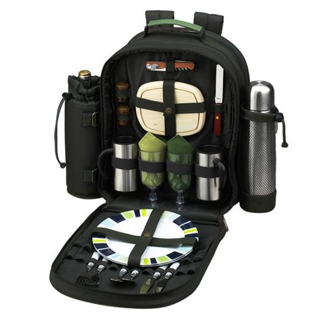 Person Picnic Cooler (Picnic At Ascot Eco Coffee/Picnic Backpack Cooler for)