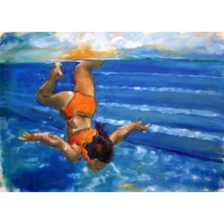 Posterazzi Watergirl Canvas Art   Kate Hoffman  20 X 28