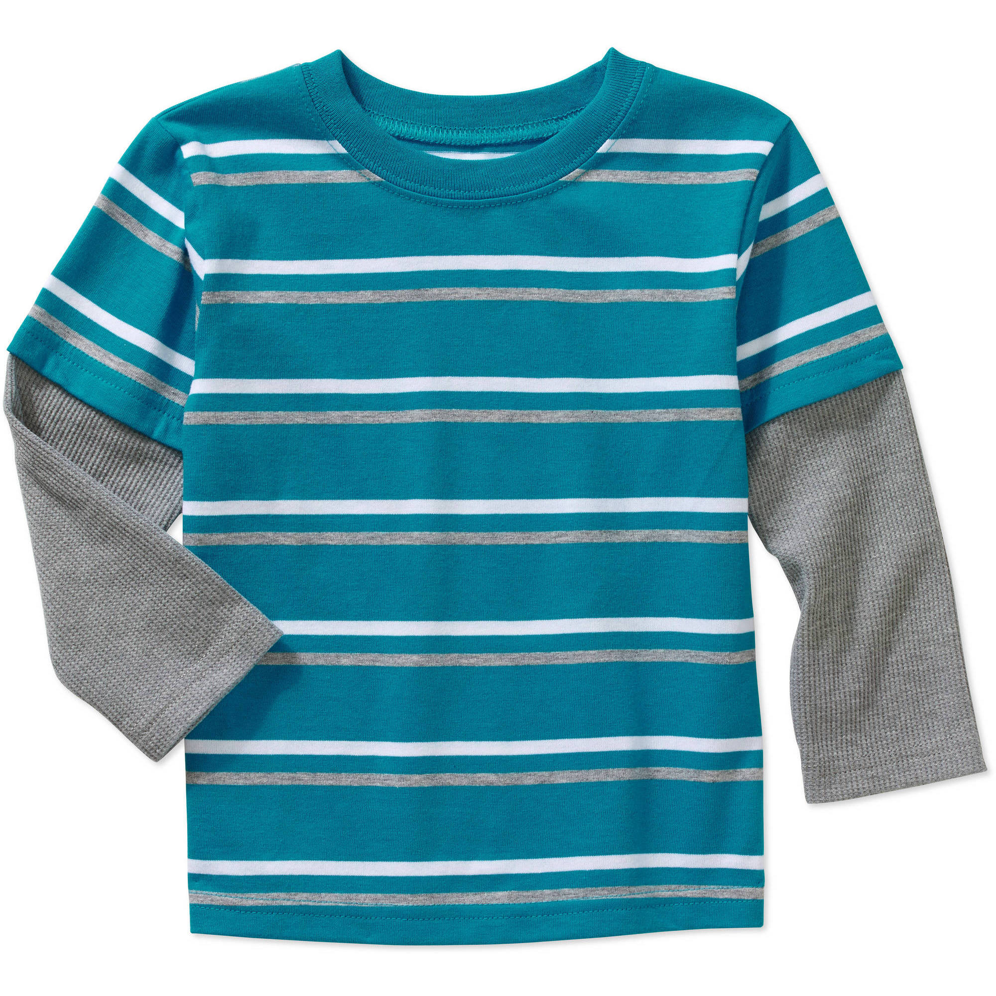 Garanimals Baby Toddler Boys' Yarn-Dye Stripe Hangdown Tee Shirt