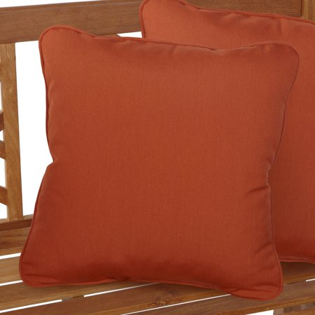 Mozaic Company Sunbrella Solid Outdoor Square Pillow with Corded Edge - Set of 2 ()