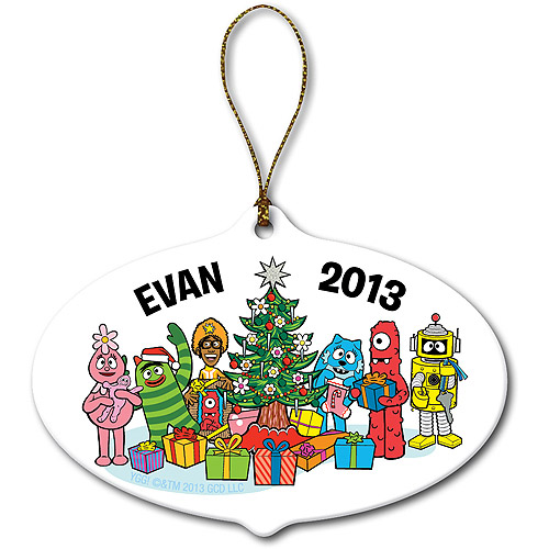 Personalized Yo Gabba Gabba! Christmas Time Ornament