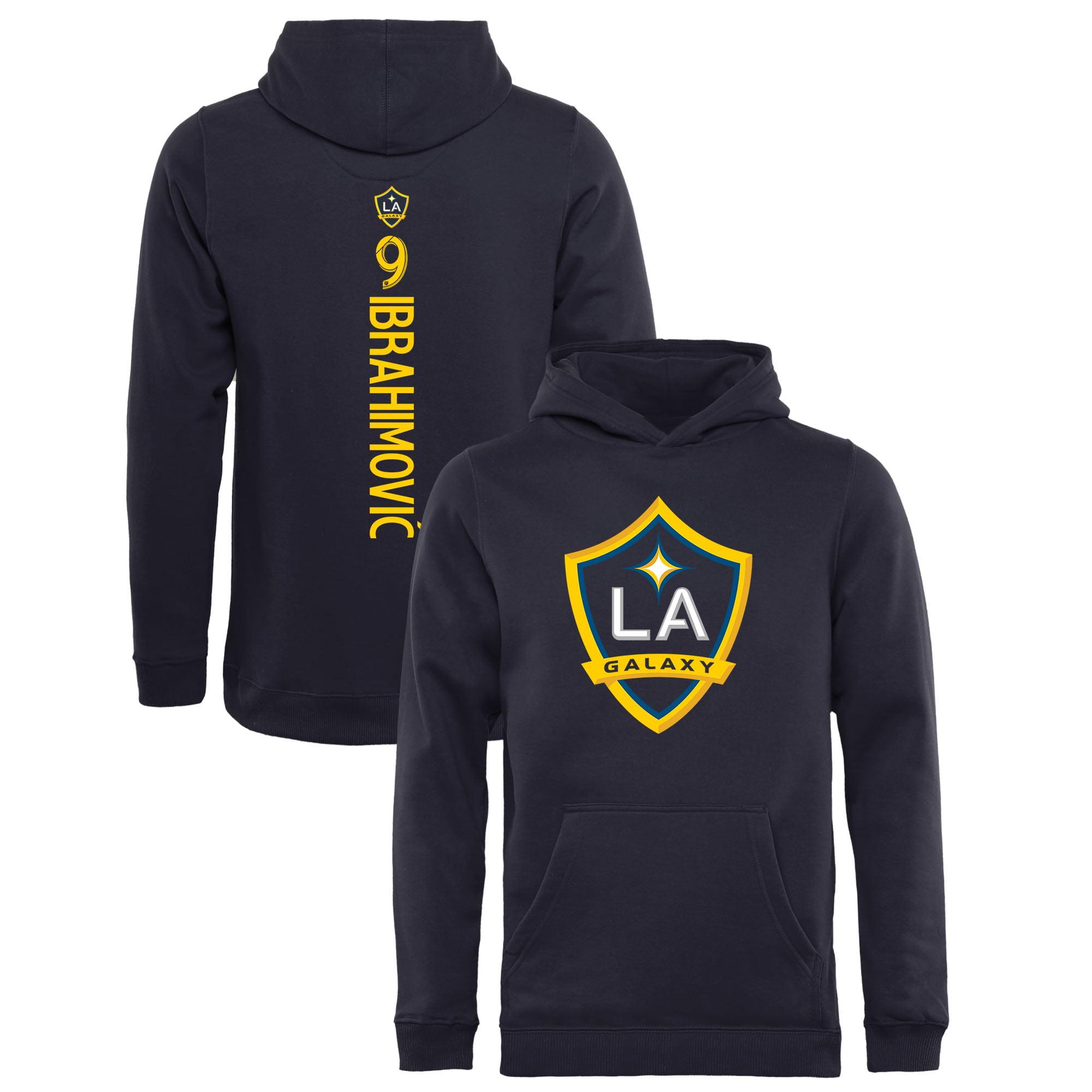 Zlatan Ibrahimovic LA Galaxy Fanatics Branded Youth Backer Name & Number Pullover Hoodie - Navy