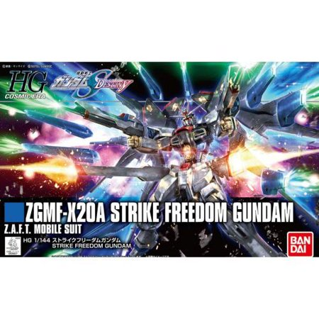 Bandai Hobby SEED Destiny HGCE Strike Freedom Gundam Revive 1/144 HG Model Kit Gundam Seed Wing