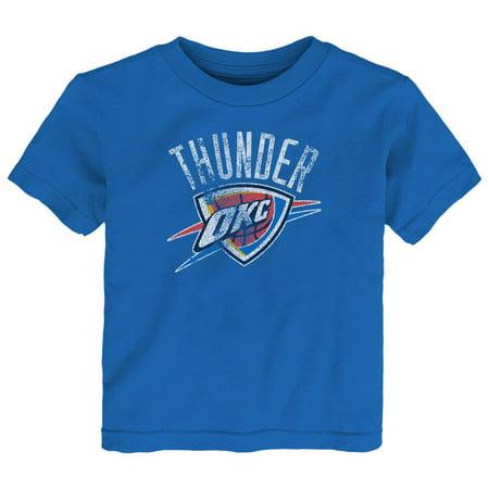 Kids Oklahoma City Thunder Tee Distress Logo Short Sleeve Tshirt - Halloween Fun In Oklahoma City