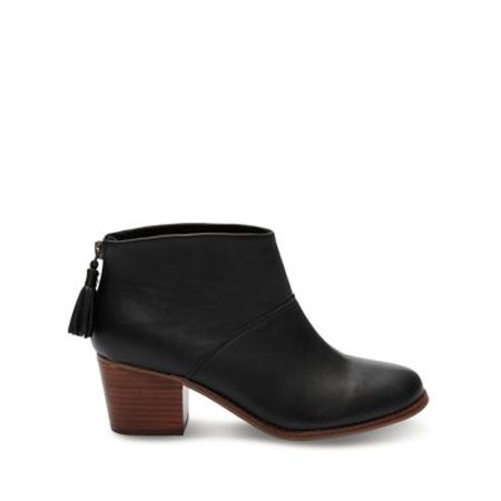 f764abe9ced Toms - TOMS 10006138   Women s Leila Bootie Black Full Grain Leather Boot  (8 B(M) US) - Walmart.com