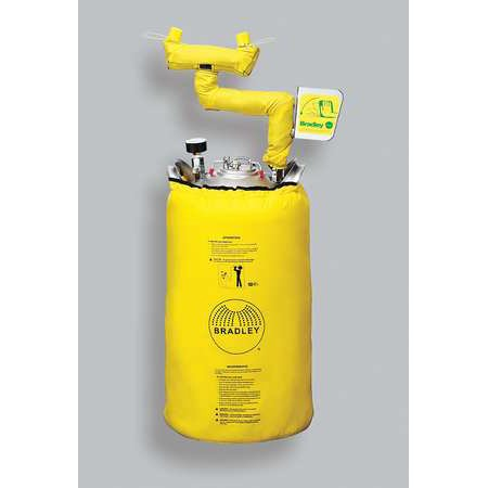 Bradley Eye Wash Stations - Bradley 10 gal. Capacity, Heated Eye Wash Station, S19-690H