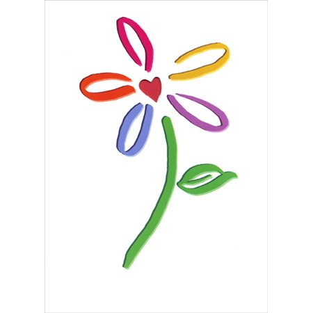 Recycle Center - Recycled Paper Greetings Daisy W / Heart in Center Mother's Day Card