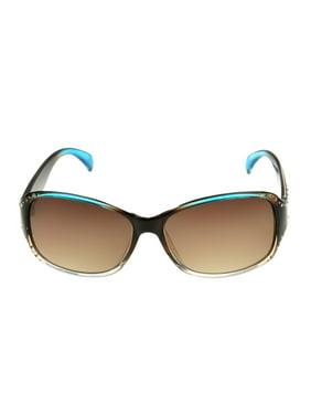 Foster Grant Women's Brown Square Sunglasses H07