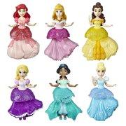 Disney Princess Collectibles, Set of 6 Includes 6 Royal Clips Fashions