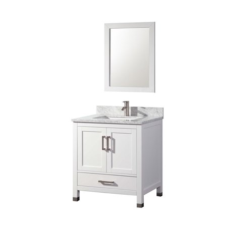 Ricca 30 39 single sink bathroom vanity set white - Walmart bathroom vanities with sink ...