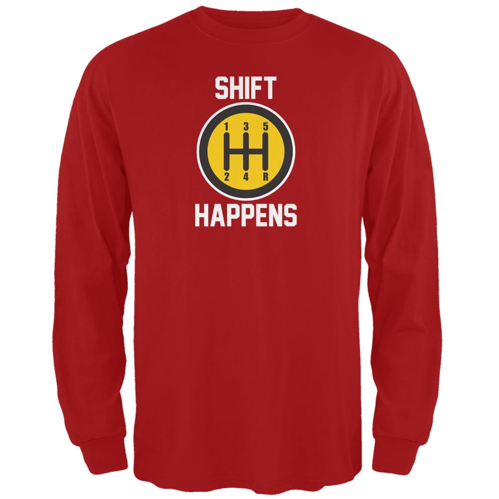Shift Happens Red Adult T-Shirt