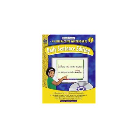 Interactive Learning Gr 5 Daily Sentence Editing Bk W Cd