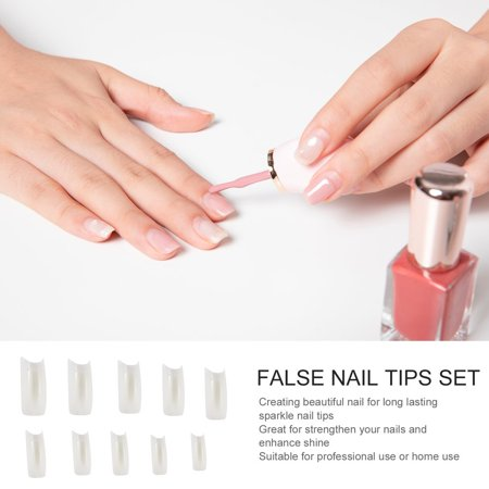 Easy-life 500 Pieces Full Cover French Artificial False Nail Tips For DIY In Box - image 1 of 6