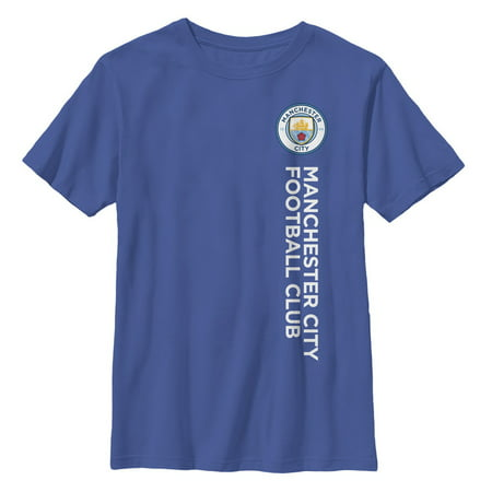 Manchester City Football Club Boys' Vertical Text Logo T-Shirt