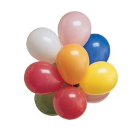 7 inch Round Latex Balloons Assorted Color,Pack of 36 EA