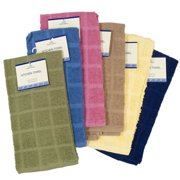 DollarItemDirect KITCHEN TOWEL 15INX25IN 100% COTTON 6 ASSTD SOLID COLORS, Case Pack of 72