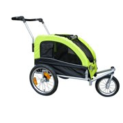 Booyah Mediium Pet Stroller and Trailer - Green