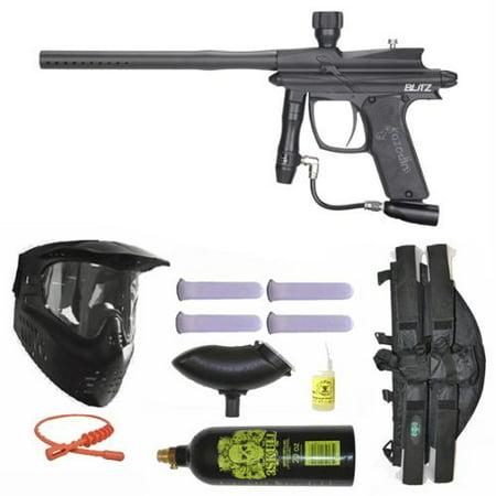 Azodin Blitz Paintball Marker Gun 3Skull 4+1 Mega Set - Black