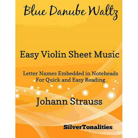 Blue Danube Waltz Easy Violin Sheet Music - eBook