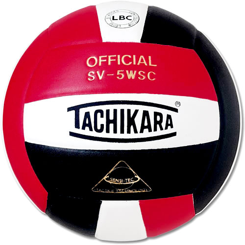 Tachikara SV5WC Red, White and Black Volleyball
