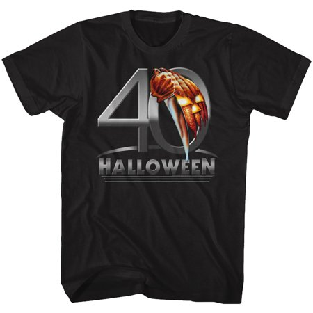 Halloween Scary Horror Slasher Movie Film 40 Halloween Adult T-Shirt Tee](Scary Family Films Halloween)